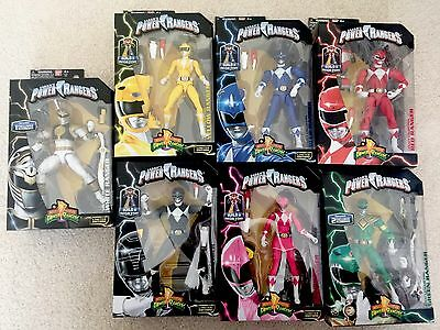 Bandai Power Rangers Full Set 7 Figures Legacy Collection Megazord Limited