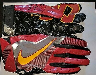 Juju Smith Schuster Usc Autographed Game Worn Nike Usc Wr Gloves 3Xl Steelers