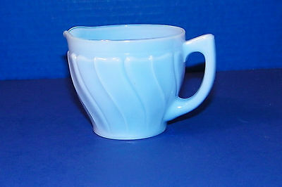 Blue Delphite Swirl Creamer Creamer Pitcher Glass