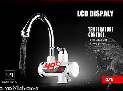 GZU Tankless Instant Digital Water Heater Fast Heating Faucet Kitchen Mixer
