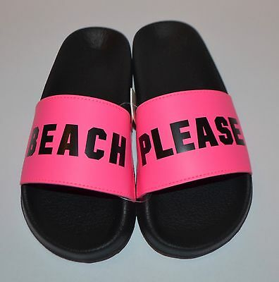 c8f87cb126155 New Victoria s Secret Hot Pink Beach Please Slides Flip Flops Sandals Large  9 10