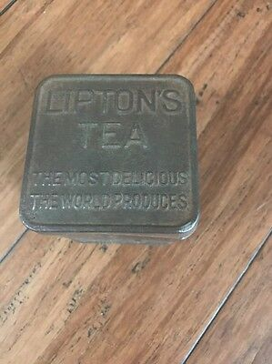 Vintage Lipton's  Tea Tin Can  Planter Ceylon Usa Lipton