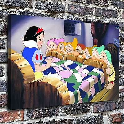 """12""""x18""""Snow White Paintings HD Print on Canva Home Decor Wall Art Picture poster"""