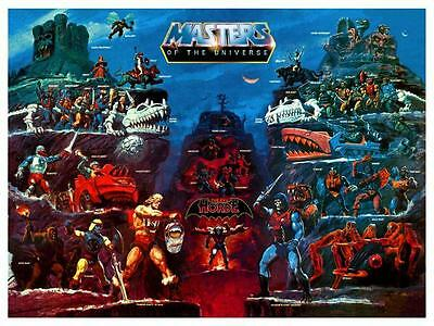 He-Man POSTER Evil Horde Map Masters of the Universe **VERY LARGE** He Man
