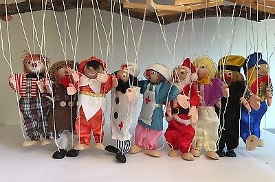 String Wooden Puppet Marionette Pack of 18