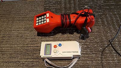 Harris Dracon TS21 Telephone Line Test Set & LAN Cable Tester LCT-300/400/BK