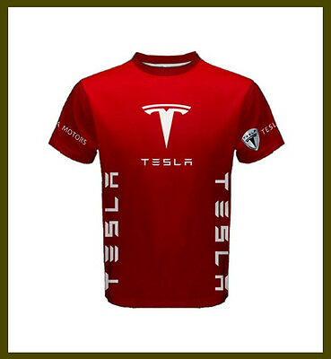 New Rare Tesla Motor Car Apparel Tees T-Shirt
