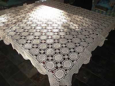 Vintage lace Beige tablecloth gorgeous!! High Teas 135 cms x135 cms