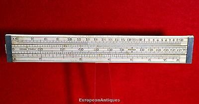 Antique Victorian SLIDING RULE RULER Made by Loftus Maker 321 Oxford St London