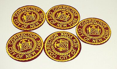City Of New York Correction Jail Embroidered Patch Nyc Lot Of 5 Vintage New