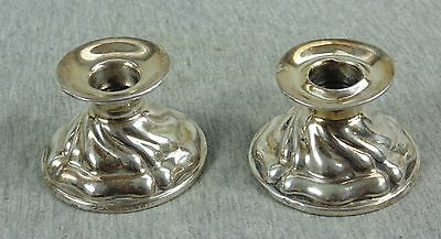 Vintage Antique Pair 2 German Silver 835 Small Candlesticks Candle Holders