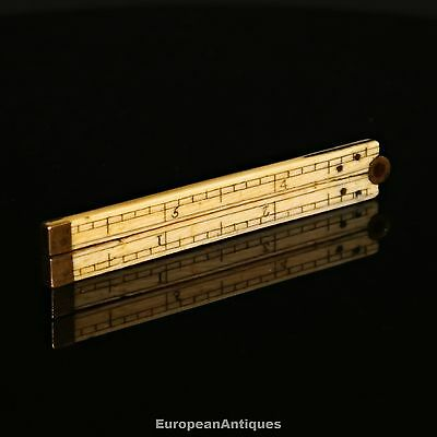 "Antique Miniature Small 6"" FOLDING RULER Model Ship Builder Maker Carpenter"