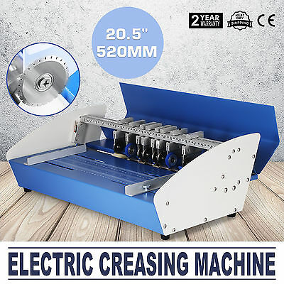 "20.5"" Electric Creaser Paper Creasing Machine Scoring Dotted Line Heavy Duty"