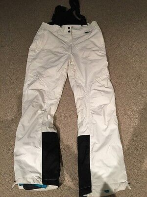 Like New Crane Womens White Overall Snowboard Thinsulate Waterproof Pants