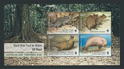 2011 CHRISTMAS ISLAND 50th Anniversary WWF -Joint Issue Minisheet MNH (SG MS704)