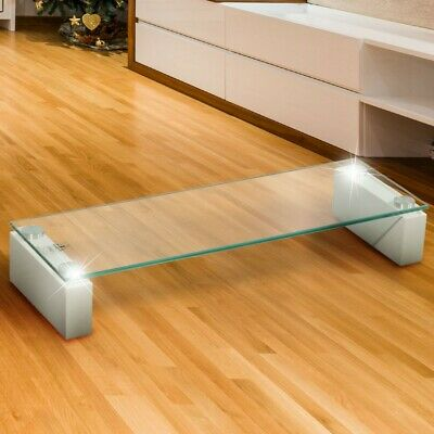 Lowboard Lobby TV Hifi Regal Verre clair stable Moniteur Table BxHxT 60x10x20 cm