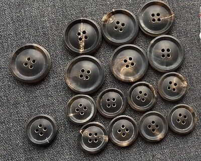 Double Breasted Sport Coat Buffalo HORN BUTTONS Set Blazer 3.14