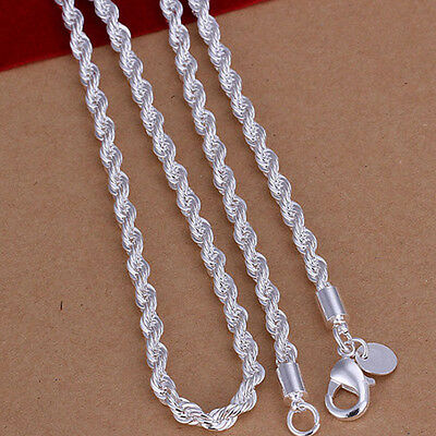 UK 3 -6mm Men's Stainless Steel Silver Curb Link Chain Chunky Necklace 16-30 in