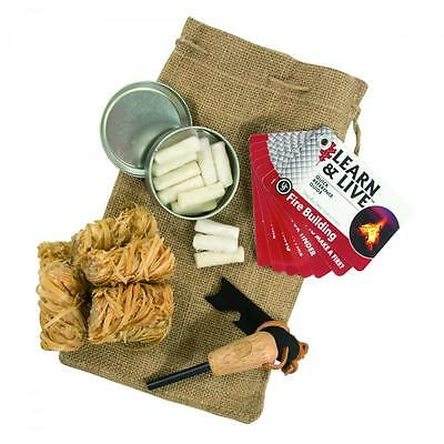 Ust Traditional All Weather Campfire Firelighting Kit Bushcraft Survival Camping