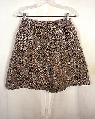 vtg 60s Bobbie Brooks rare Colorful Flecked Brown Tweed Shorts high waist 25