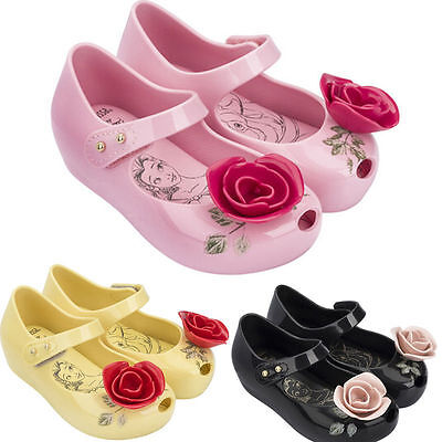 Girls Beauty And The Beast Cosplay Dress Up Sandals Princess Ballet Jelly Shoes