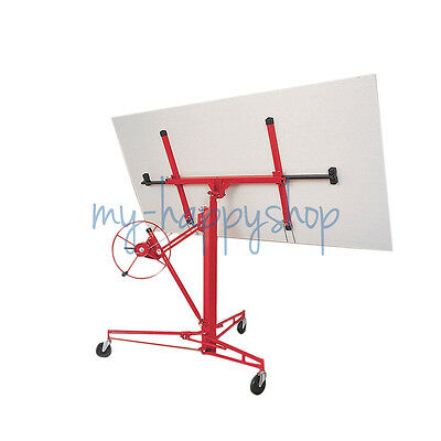 Moveable 11ft Drywall Plasterboard Hoist Panel Sheet Heavy Duty Lift Lifter Tool