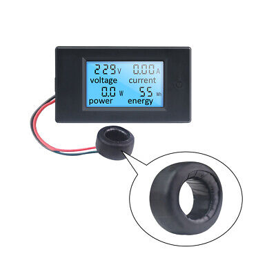 AC110V 220V 100A Digital Ammeter Voltmeter Energy Power Meter LCD Blue Backlight
