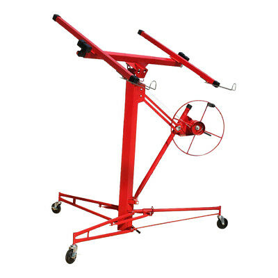 11FT Drywall Host Professional Mobile Caster Plasterboard Panel Lifter Lift Tool