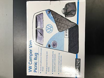 New Official Genuine Large VW Camper Picnic Blanket With Travel Bag
