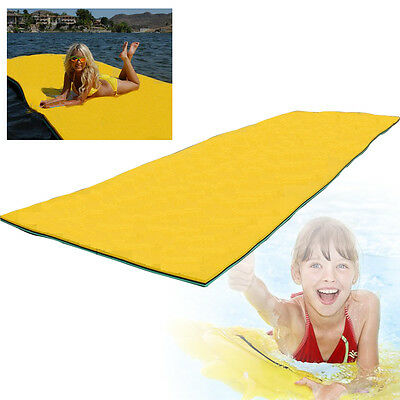 Inflatable Pool Float Floating Wave Lounge Seat Air Bed Lounger Lake Mat Blanket