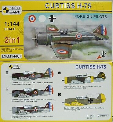 Curtiss H-75, Foreign Pilots, LW,Finnland,FR, Mark 1, 1:144, Doppelpack,  NEU!