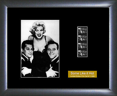 Marilyn Monroe memorabilia Some Like It Hot Film Cell - Numbered Limited Edition