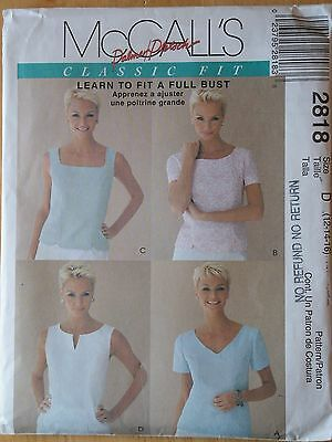 McCall's Sewing Pattern--Misses' TOPS-BLOUSE--Palmer Pletsch--Size: 12-16--UNCUT