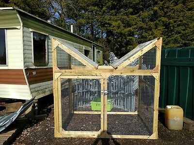 """6ft X 4ft Wooden Magpie and Crow ladder Trap - 1""""X1"""" 16g Mesh - EASY TO MOVE"""