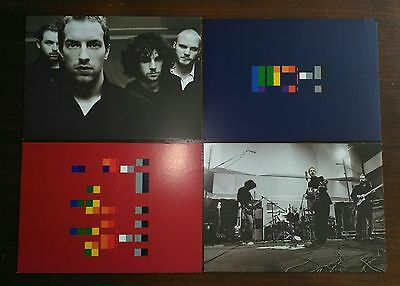 COLDPLAY Rare Set of 4x 'X&Y' POSTCARDS (Limited edition) Parlophone HMV Promo