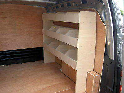 Vauxhall Combo 2001-2012 plumbers/electricians shelving racking ply storage.