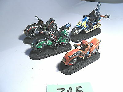 Judge Dredd Miniature Game Ape Biker Gang pro painted Mongoose Lot 715