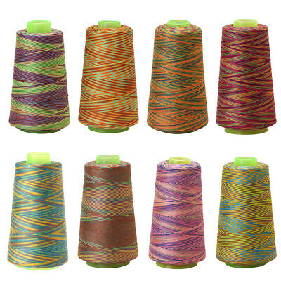 Colorful 3000 Yards Sewing Machine Threads Overlocking Polyester String