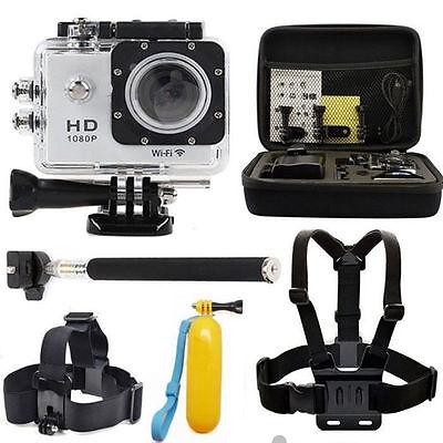 For GoPro Hero 1 2 3 3+ 4 HD sport action video camera cam DV 12MP waterproof