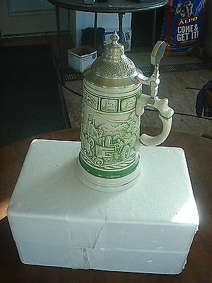 Rare John Deere Licensed Product Collectible Pewter Lidded Stein