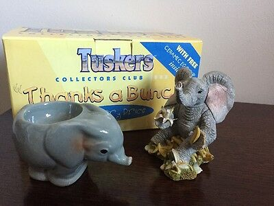 Tuskers Thanks A Bunch Elephant And Egg Cup Collectors Edition