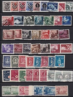 Croatia Lot / Collection Of 61 Stamps