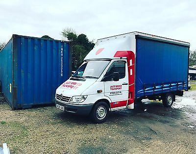 Van Courier Delivery Driver Service Pallet Business Transport With Man For Hire