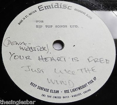 "Deena Webster - Your Heart Is Free Emidisc 7"" Acetate Unreleased French Version"