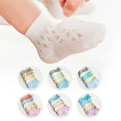 5 Pairs Baby Boy Girls Cute Cotton Socks NewBorn Infant Toddler Kids Soft Sock