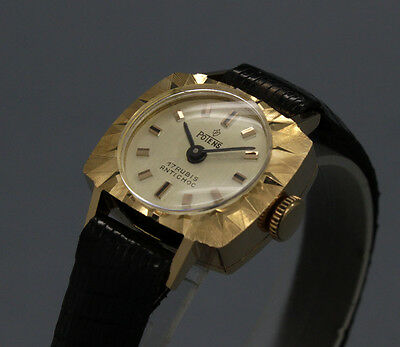 RARE New Old Stock 60s tiny POTENS 18K GOLD cokctail vintage MECHANICAL watch