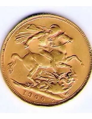 Full Gold Sovereign Queen Victoria 1900 South African Mint circulated