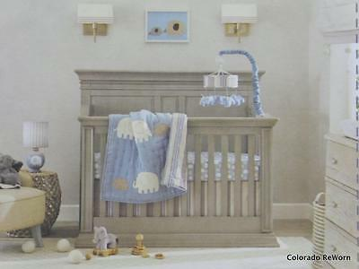 New Lambs & Ivy Elephant Tales Collection Blue Boys Musical Crib Mobile