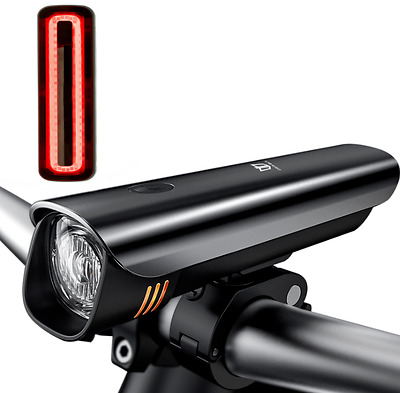 Light Super Bright Cree LED Bike Front Headlight Rechargeable & Rear Tail Set