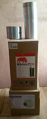 """RVK & Rhino pro carbon filter extraction kit 4"""" 100mm, ducting 1.5m"""